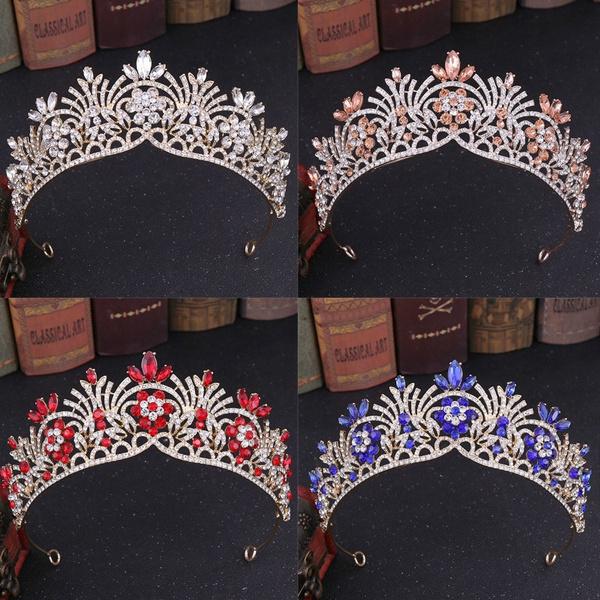 Flowers, Jewelry, diadem, Shiny