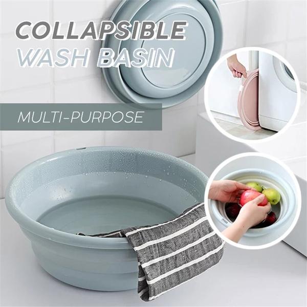 Collapsible Camping Wash Basin Foot Wash Basin Silicone Washbasin Folding BuYJUS