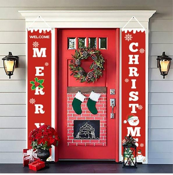 xmasdecor, Outdoor, Door, Christmas