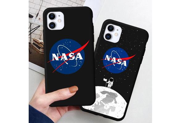 Coque Fashion NASA américaine pour Coque iPhone 11 Pro Max 2019, Coque iPhone XS Max XR X 6S pour Samsung Galaxy S10 S8 S9 S7 S6 J1 J2 Prime J3 J7 A5 ...