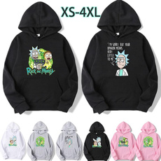 Fleece, hooded, Long Sleeve, rickandmorty