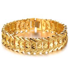 Fashion, mensfashionbracelet, Chain, Gold Bangle