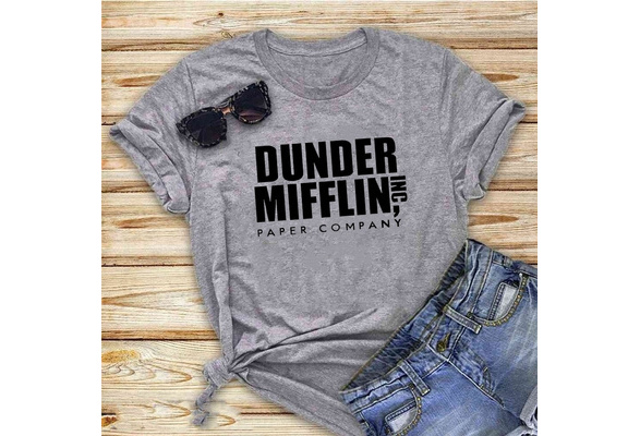 HG Apparel Womens Dunder Mifflin Paper Company Shirt Funny The Office TV Show Ladies Tee