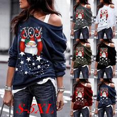 Fashion, tunic top, Long Sleeve, skewneck