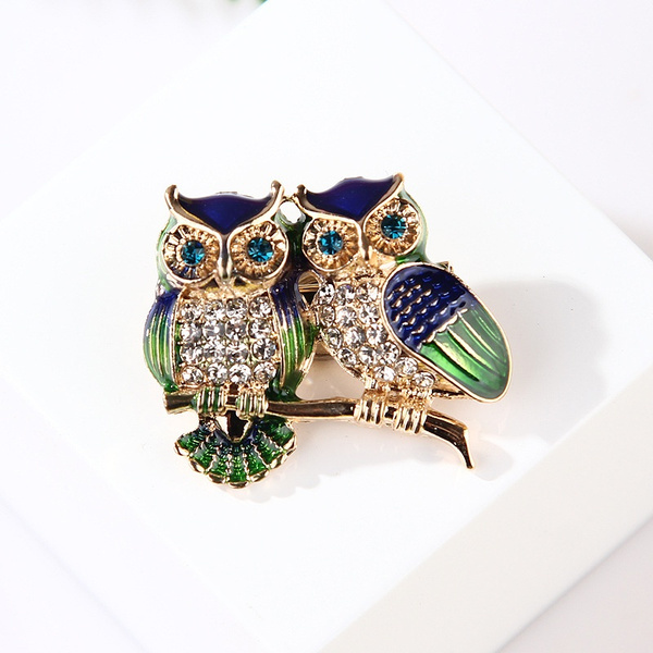 vintagebrooch, Owl, Fashion, goldplated
