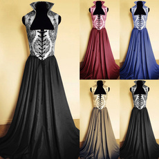 GOTHIC DRESS, medievaldres, Lace, long dress