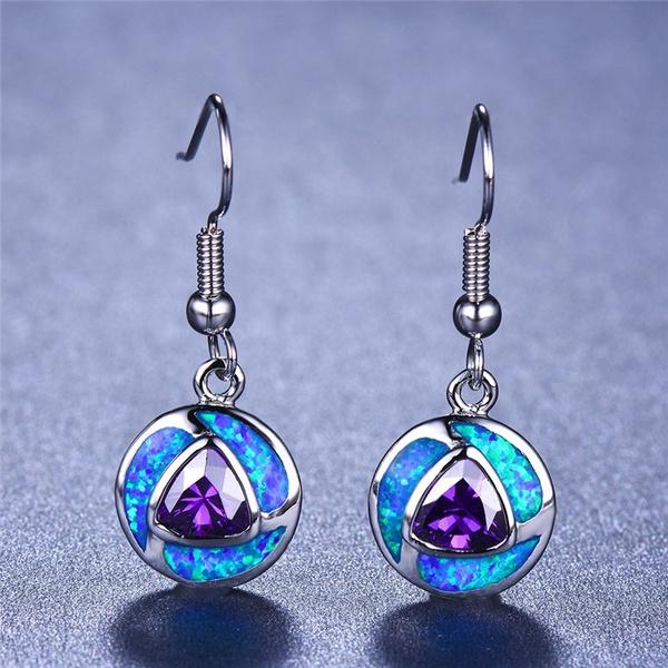 Sterling, Silver Jewelry, opalearring, 925 sterling silver