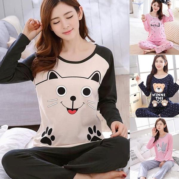 pajamaset, Sleeve, longsleevepyjama, cute