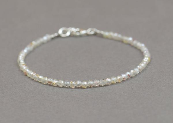 Bracelet, spinel, tiny, faceted