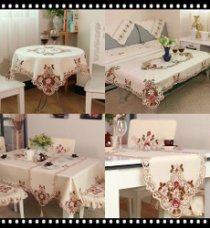 Coffee, tableclothsquare, Wedding, embroideredtablecloth