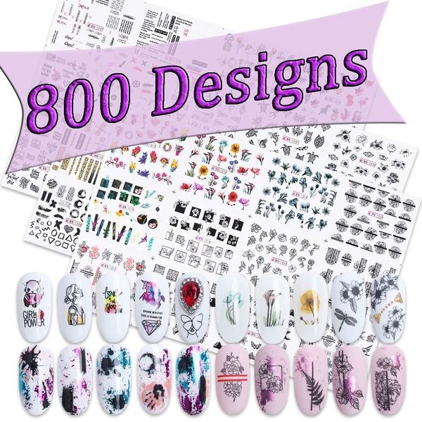 Beauty Makeup, nail stickers, Flowers, art