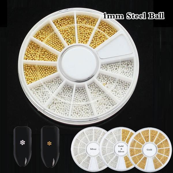 Mini, caviarnailssilver, art, beads1mm