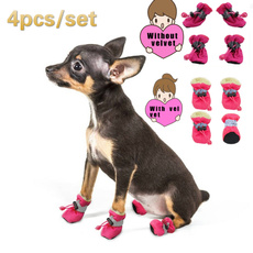 Booties, velvet, petaccessorie, Waterproof