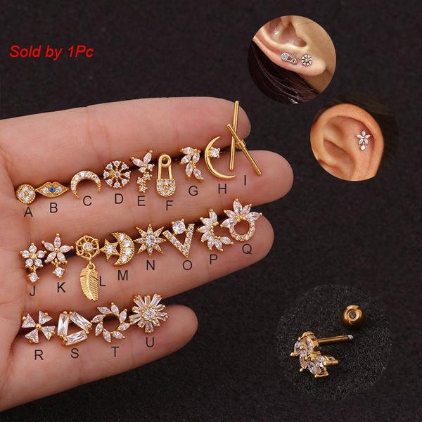 helixcartilage, Steel, earpiercing, piercingjewelry