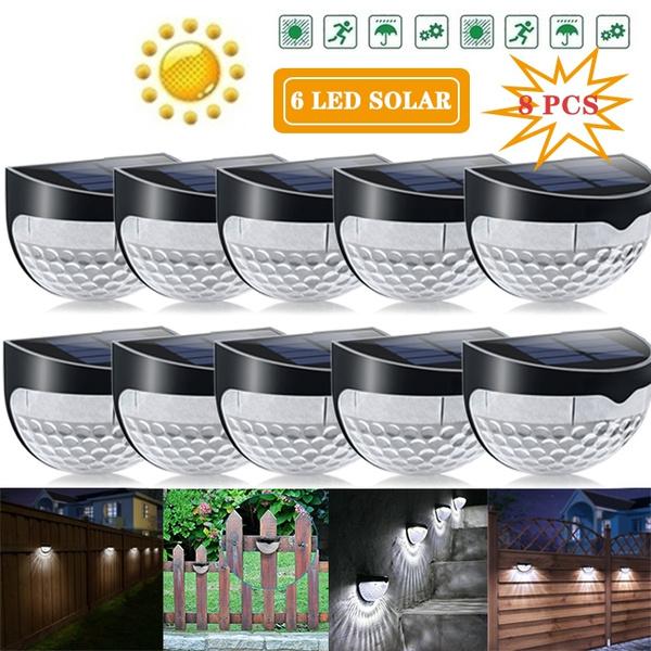 2 4 6 8pcs Solar Power Lamp Wireless, Wireless Outdoor Lights With Sensors