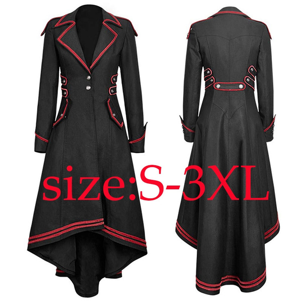 Goth, tailcoatjacket, victoriancoat, Long Sleeve