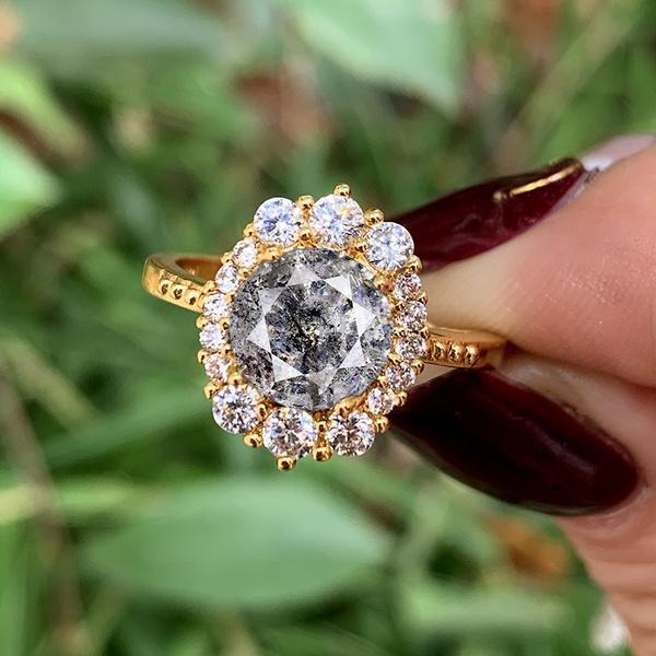DIAMOND, gold, greydiamond, Engagement Ring