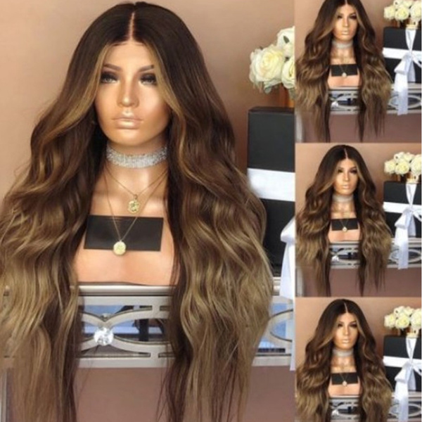 Synthetic, Black wig, Fiber, Curly Hair