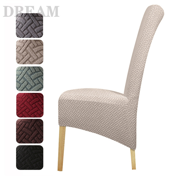 Plus Xl Size Dining Room Chair Cover High Back Stretch Polar Fleece Fabric Stripe Slipcovers Seat Covers For Hotel Banquet Home Decor Wish