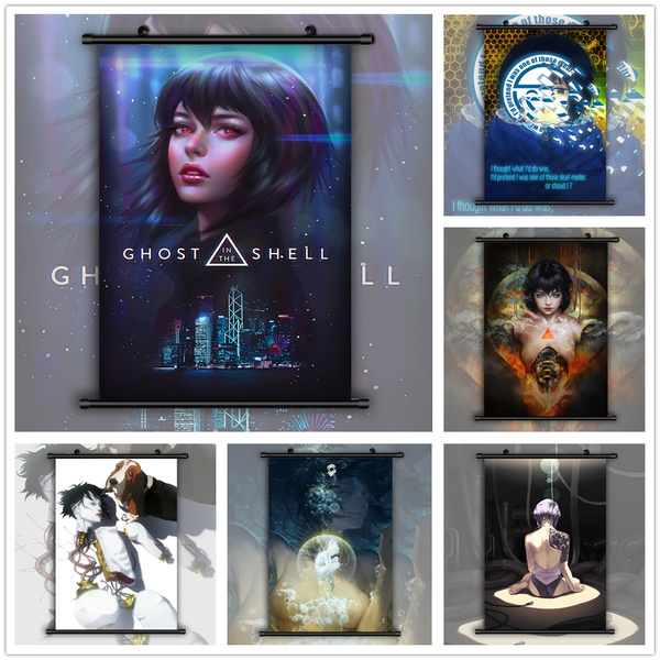 Ghost In The Shell Stand Alone Complex Motoko Laughing Man Anime Hd Print Wall Art Poster Scroll Home Decoration Wish
