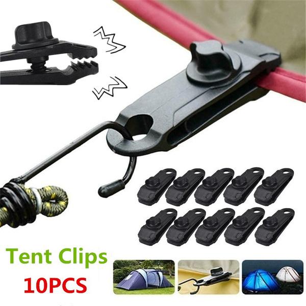 Reusable Tent Tarp Tarpaulin Clip Clamp Buckle Camping Tools Heavy Duty UK