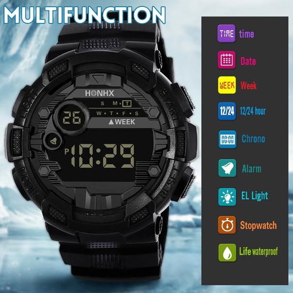 relojhombredigital, led, military watch, camouflage