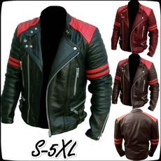 Plus Size, Winter, leather, Coat