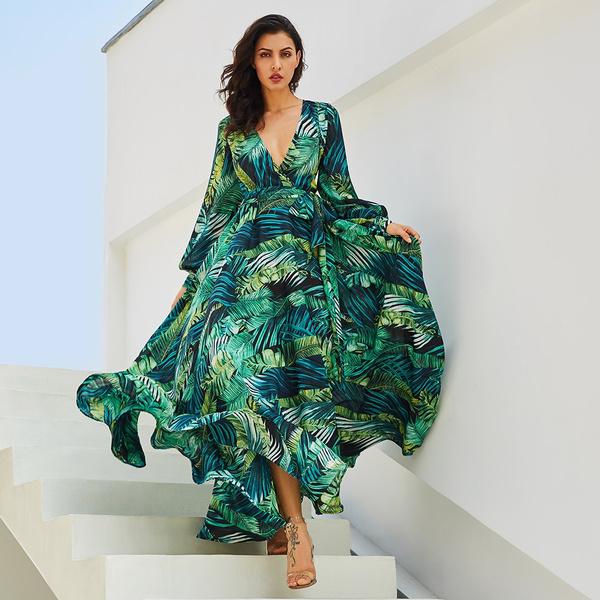 Deep V-Neck, dressesforwomen, Lace, Dresses