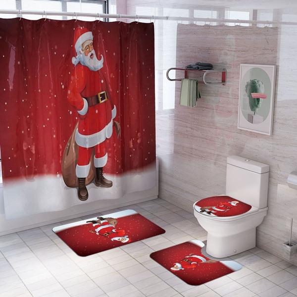 snowman, christmascurtain, Bathroom Accessories, Christmas