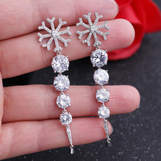 Sterling, Silver Jewelry, DIAMOND, Stud
