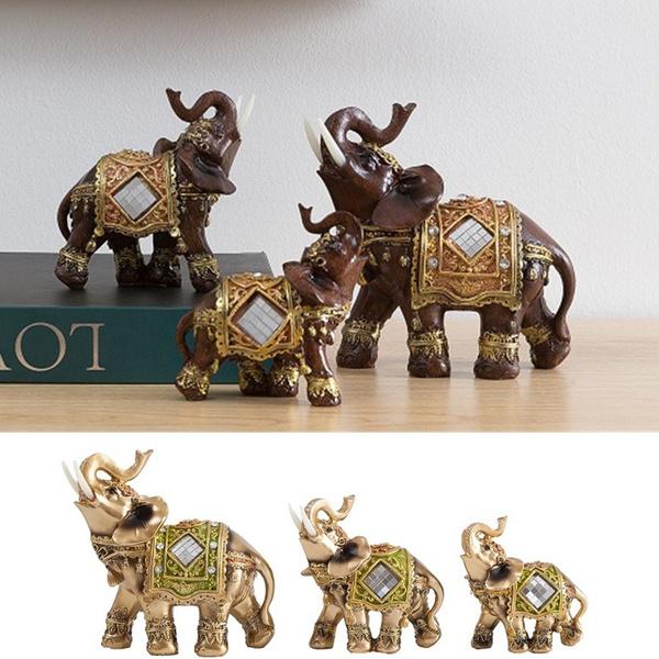 homedecoretion, elephantstatuegold, Home & Living, sculpturesstatue