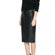 pencil, pencil skirt, leather, leather skirt