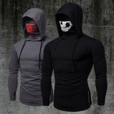 hooded, skull, Fitness, Long Sleeve
