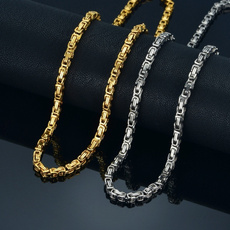 Party Necklace, necklaces for men, punk necklace, goldplated