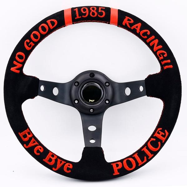 jdm, Blues, racingsteeringwheel, leather