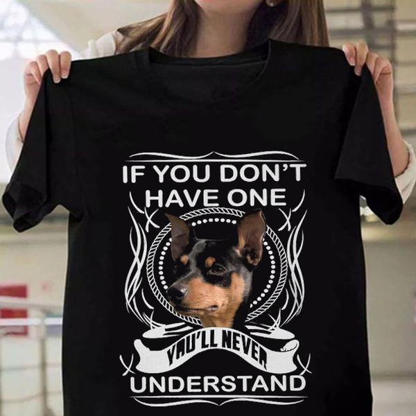 dogprintedtshirt, oneckmensshirt, animalprintshirt, miniaturepinscherfunnytshirt