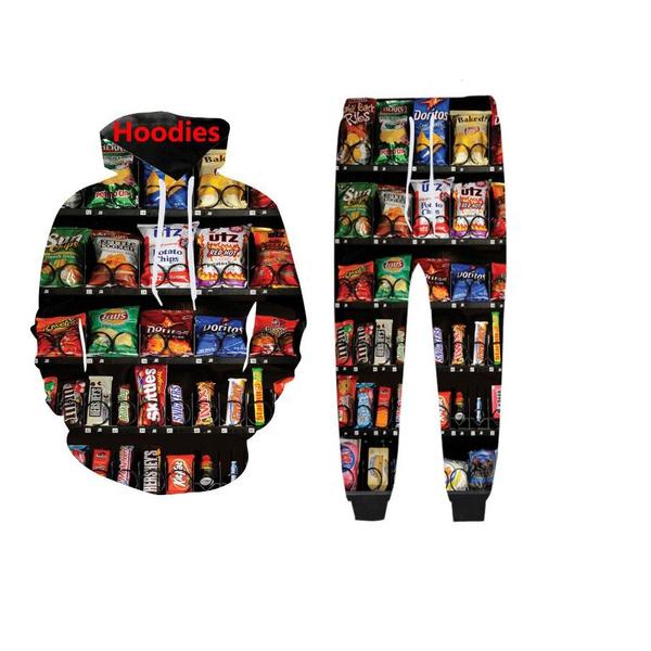 womenjoggerspant, 3d sweatshirt men, Snacks, pants