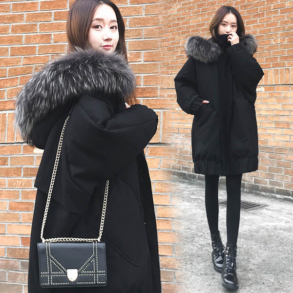 snowcoat, Fashion, padded, fur collar