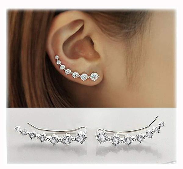 Hoop Earring, Crystal Jewelry, hypoallergenic, Crystal