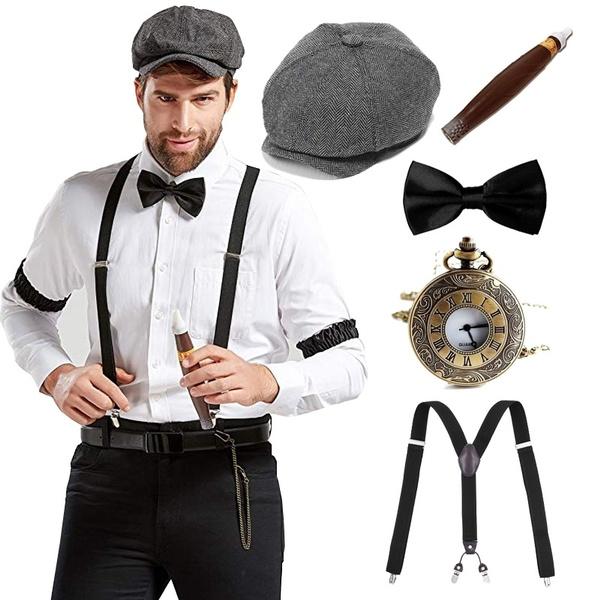 suspenders, Fashion, chirstmascostume, Fedora
