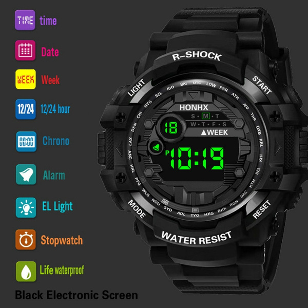 Outdoor, led, Waterproof Watch, watches for men