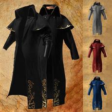 men coat, Plus Size, Medieval, Long Sleeve