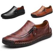 casual shoes, men's flats, Men, leather shoes