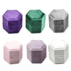 Box, doubleringbox, velvet, Jewelry