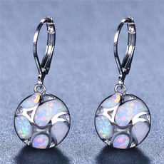 Sterling, opalearring, 925 sterling silver, wedding earrings