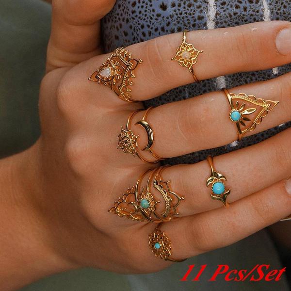 jeweleryset, Vintage, monnring, Fashion
