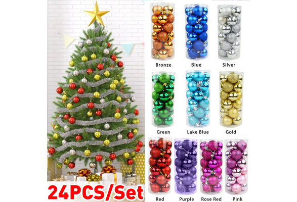 Gold Gaddrt 48Pcs 30mm Christmas Xmas Tree Hanging Ball Bauble Home Party Ornament Decor