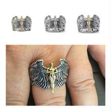 Fashion Jewelry, creativering, 925 silver rings, 18k gold ring