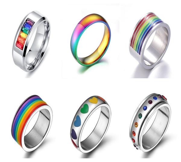 Steel, rainbow, Jewelry, gay