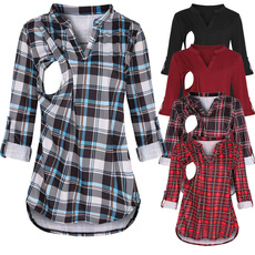 breastfeeding tops, plaid, nursing, nursingclothe